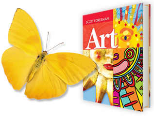 Scott Foresman Art Book with Butterfly