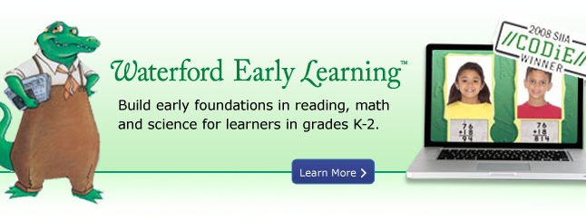 Waterford Early Learning - Build Early foundations in reading, math and science for learners in grades K-12
