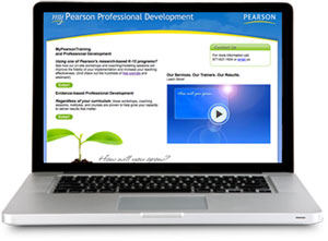 My Pearson Professional Development homepage on laptop