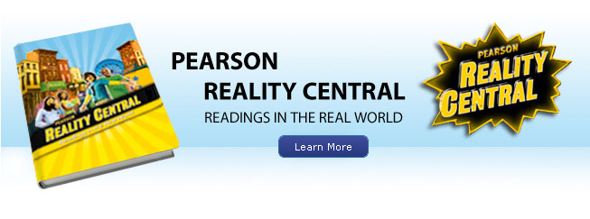 Pearson Reality Central Book Cover and logo