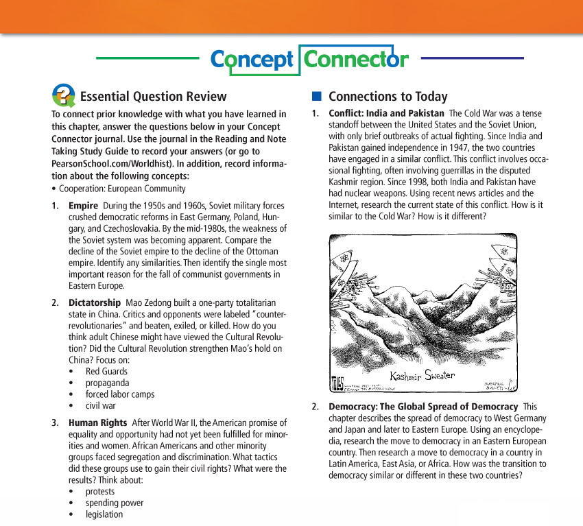 World History Concept Connector Study Guide