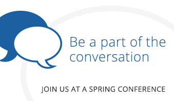 Be part of the conversation: Join us at a spring conference