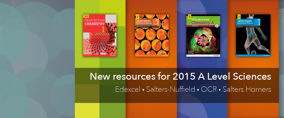 A Level Science 2015 homepage banner: