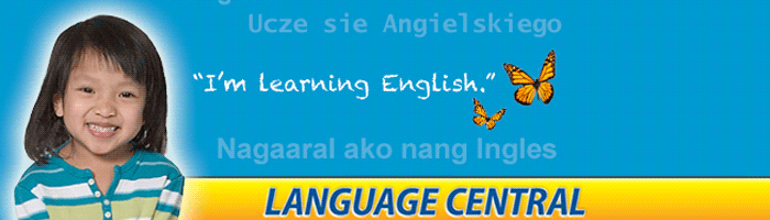 Language Central - Girl smiling. She is learning English.