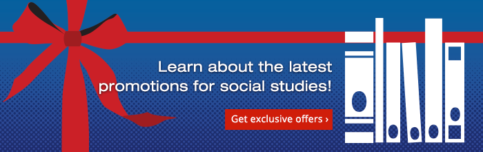 Learn about the latest promotions for social studies!