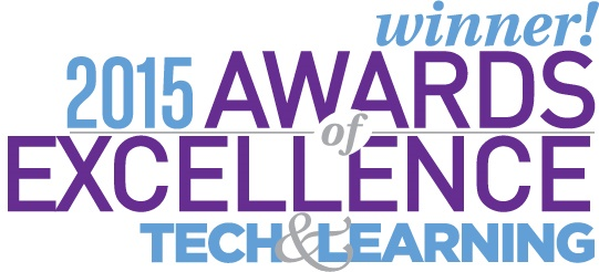 2015 Tech & Learning Award of Excellence Winner!