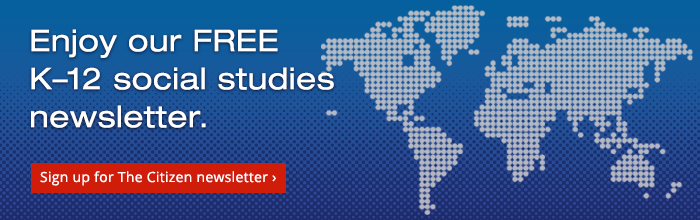 Enjoy our FREE K-12 social studies newsletter.