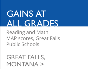 Gains at All Grades - Reading and Math MAP scores, Great Falls Public Schools