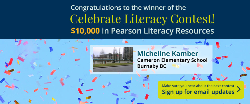 Celebrate Literacy: Sign up for email updates