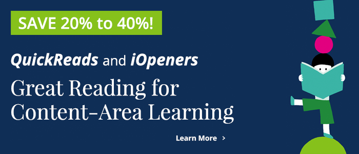 Save 20% to 40% on QuickReads and iOpeners