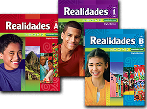 Realidades book cover collage