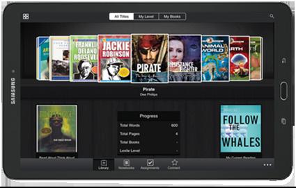 Pearson EasyBridge screen on a tablet