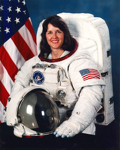 Sally Ride in Space Suit Orange (page 3) - Pics about space