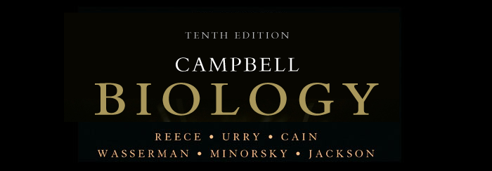 Biology by Campbell, AP Edition,Tenth Edition,Printed in USA, ISBN 0-13-344700-6