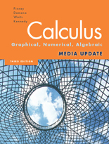 Finney, Demana, Waits, Kennedy, Calculus: Graphical, Numerical, Algebraic, Media Update 3/e ©2010