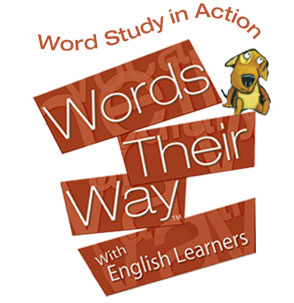 Words Their Way with English Learners logo with puppy