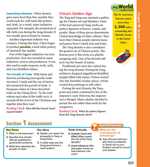 Social studies programs pearson myworld history a world view myworld connections sample page sciox Choice Image