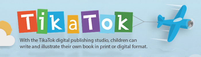 With the TikaTok digital publishing studio, children can write and illustrate their own book in print or digital format.