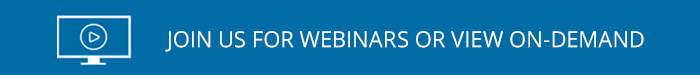 Join us for Live Webinars