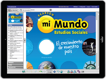 myWorld Social Studies logo Spanish