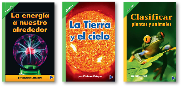 Leveled readers from K-5 Spanish brochure