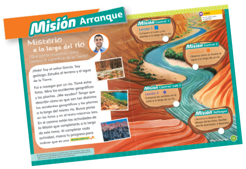 Misión Arranque from K-5 Spanish brochure