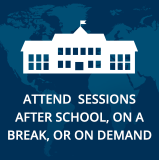Attend for sessions after school, on a break, or on demand.