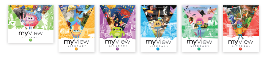 Pearson myView Literacy Grades K-5 book covers