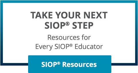 TAKE YOUR NEXT SIOP STEP