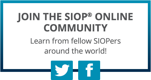 JOIN THE SIOP ONLINE COMMUNITY