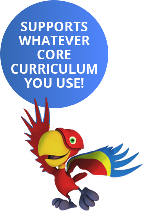 SUPPORTS WHATEVER CORE CURRICULUM YOU USE!