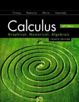 Finney, Demana, Waits, Kennedy Calculus: Graphing, Numerical, Algebraic 4th Edition