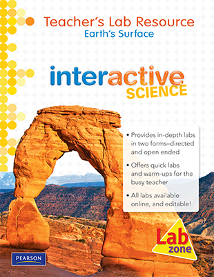Interactive science a science curriculum by pearson product name earths surface teachers lab resource fandeluxe Gallery