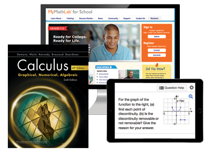 Math Programs | Pearson | Calculus: Graphical, Numerical, Algebraic