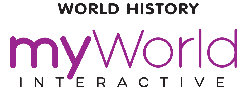 myWorld Interactive World History logo