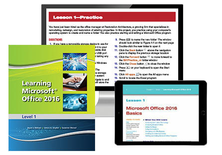 Learning Microsoft Office 2016, Level 1